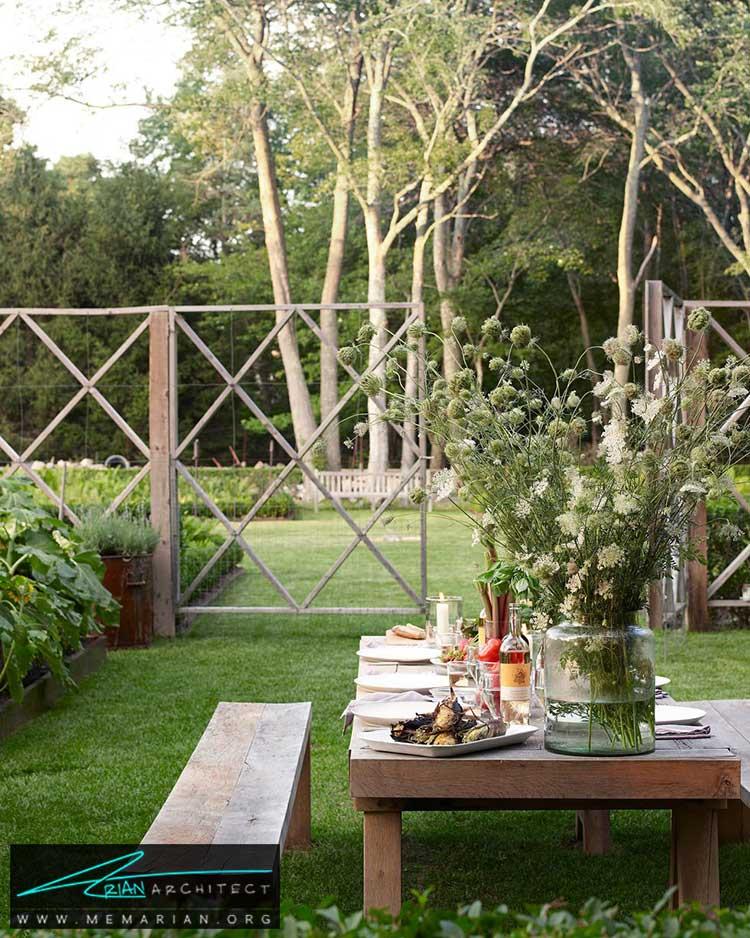 میز پیک نیک در حیاط - 25 ایده ساده برای دستیابی به دکوراسیون تابستانی در خانه
