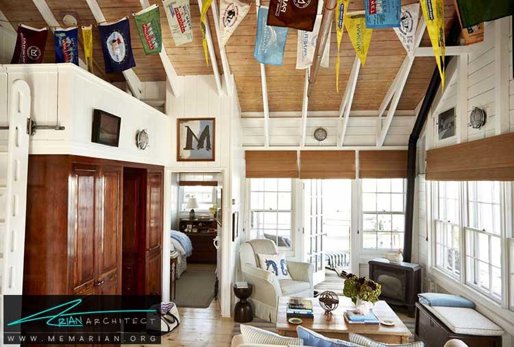 پرچم های آویزان از سقف - 25 ایده ساده برای دستیابی به دکوراسیون تابستانی در خانه