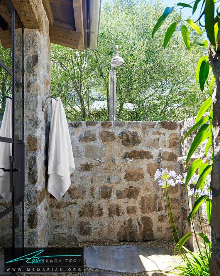 دوش در فضای باز - 25 ایده ساده برای دستیابی به دکوراسیون تابستانی در خانه