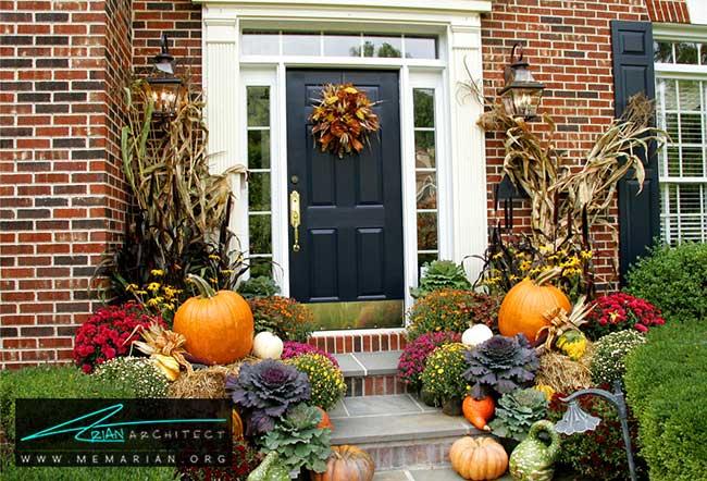 ورودی منزل - با 7 قدم خانه خود را برای پاییز آماده کنید.