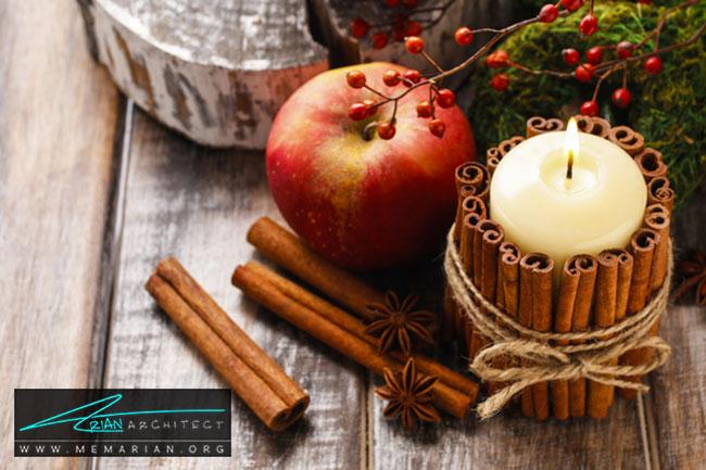 تزئین شمع ها برای پاییز - با 7 قدم خانه خود را برای پاییز آماده کنید.