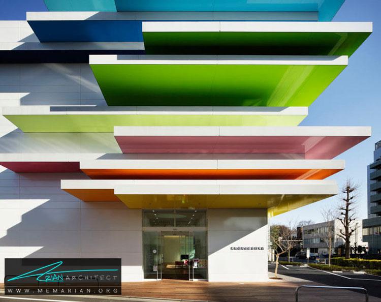 نمای بانک سوگامو شینکین در توکیو - 10 ساختمان مدرن با نمای خیره کننده