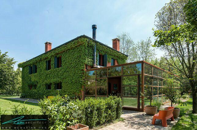 معماری خانه ای با لباس گیاهی توسط ZAA، ایتالیا - معماری سبز