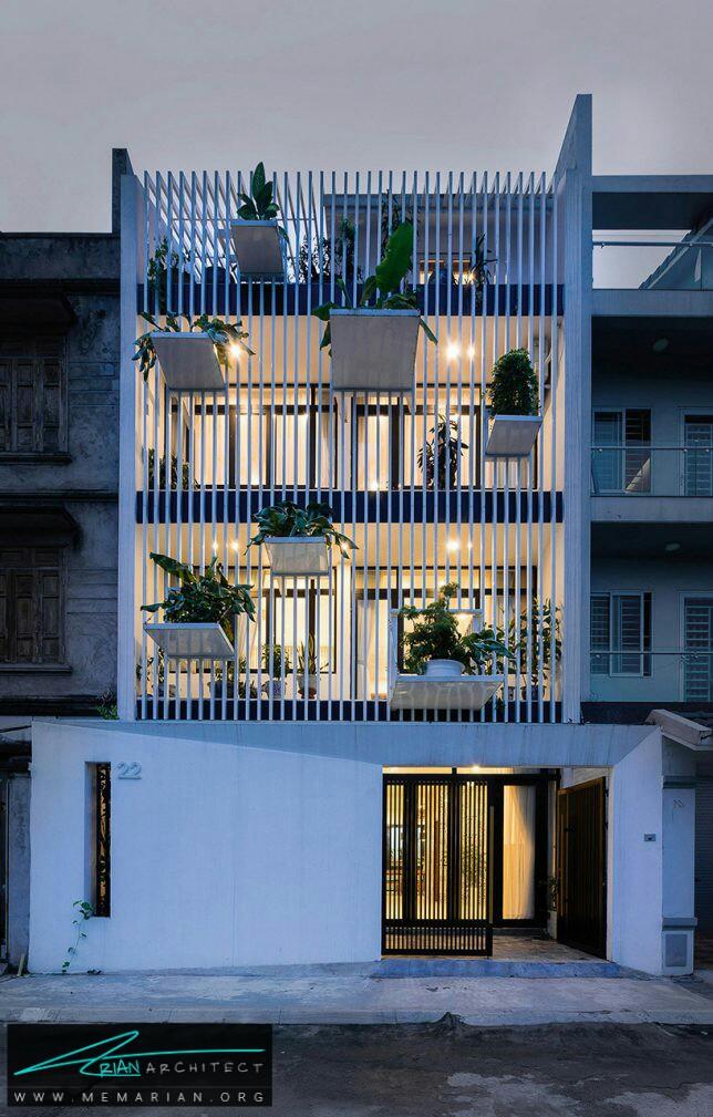معماری سبز خانه TH توسط استودیو دان در هانوی، ویتنام - معماری سبز