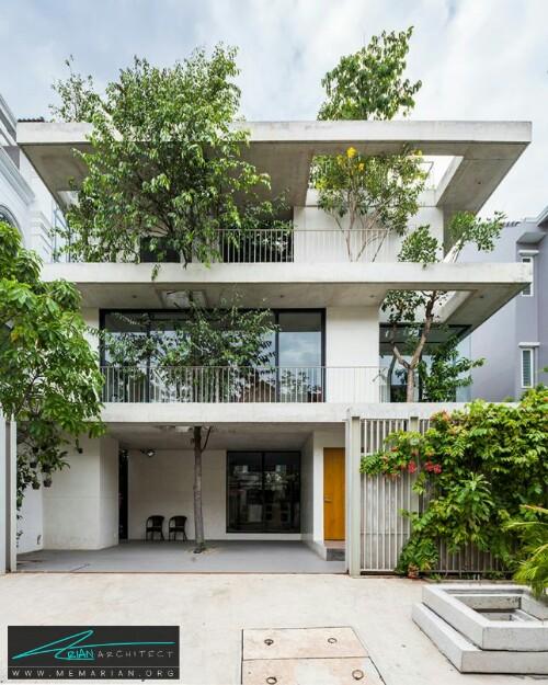 خانه ای برای درختان توسط معماران VTN در هوشی مین، ویتنام - معماری سبز