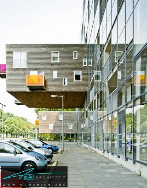 معماری فوق العاده مجتمع سالمندان -معماری معلق