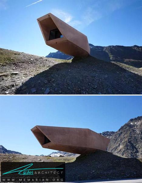 تعادل ساختار مجسمه ای -معماری معلق