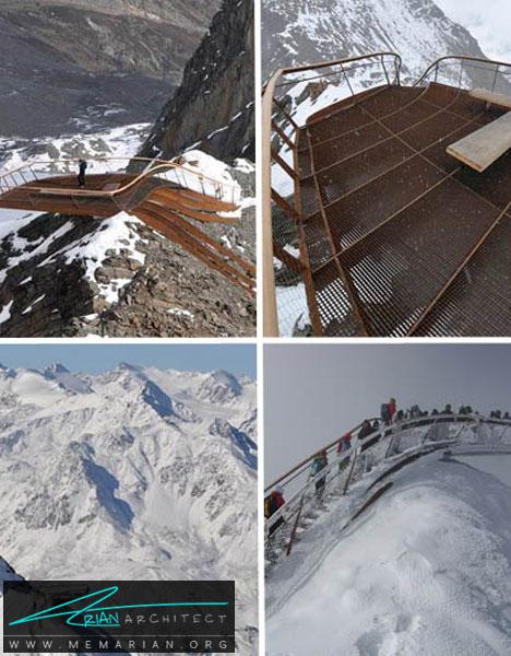 سازه معلق در کوهستان-معماری معلق