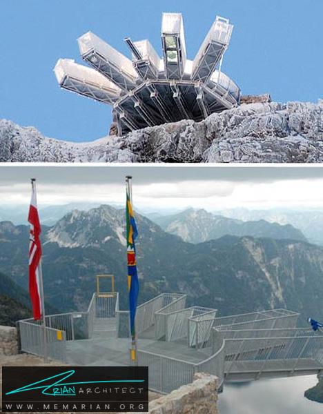 چشم انداز پنج انگشت در اتریش-معماری معلق