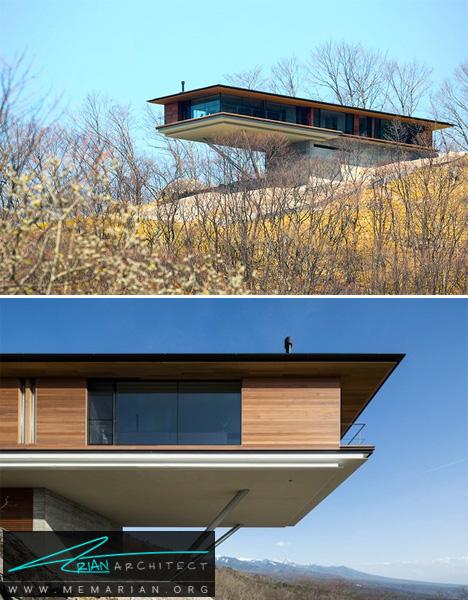 خانه ای در دامنه های کوه-معماری معلق