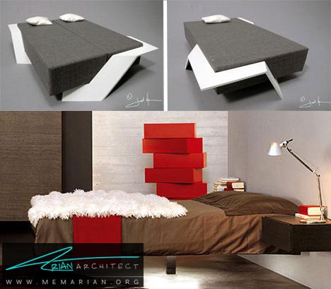 تخت خواب قابل تبدیل -تخت خواب مدرن