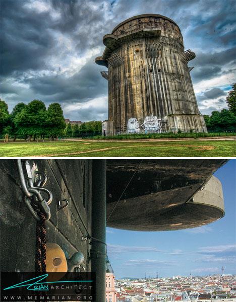 برج بتنی مستحکم -سازه های جنگی بازسازی شده