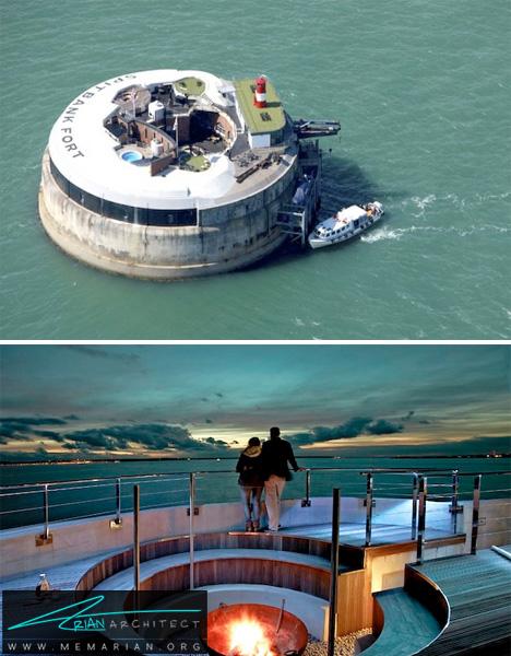 تبدیل قلعه دریایی بریتانیا به استراحتگاه لوکس-سازه های جنگی بازسازی شده