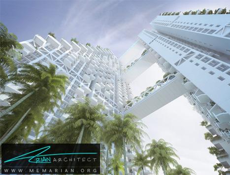 برج زیستگاه آسمان- پل های آسمانی