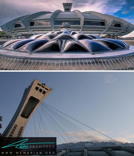 استادیوم المپیک - معماری عجیب و غریب