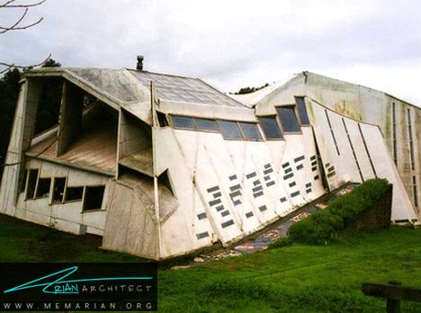 خانه شیب دار - معماری عجیب و غریب