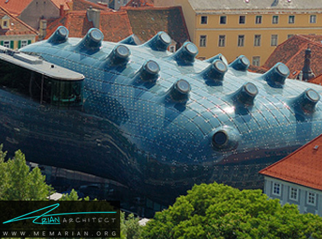 موزه هنری اتریش - معماری عجیب و غریب