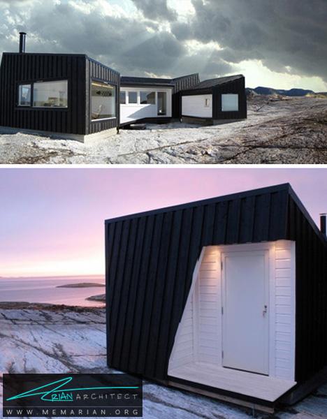 خانه ساحلی اتاقک دار در نروژ - خانه های ساحلی