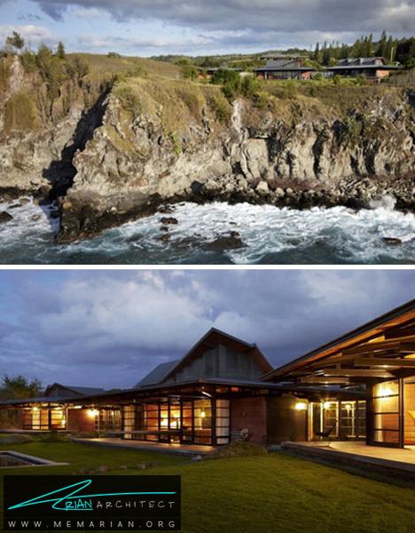 خانه ساحلی با مغماری فضای باز - خانه های ساحلی