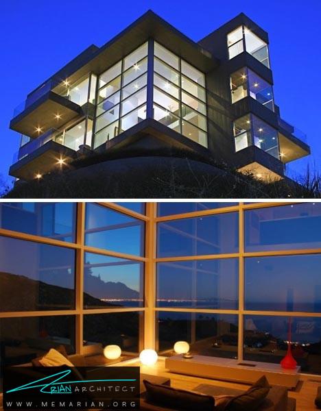 خانه ای با بیش از 100 پنجره - خانه های ساحلی