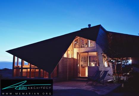 خانه ای با شاهکار زاویه ای در جزیره کانادا - خانه های ساحلی