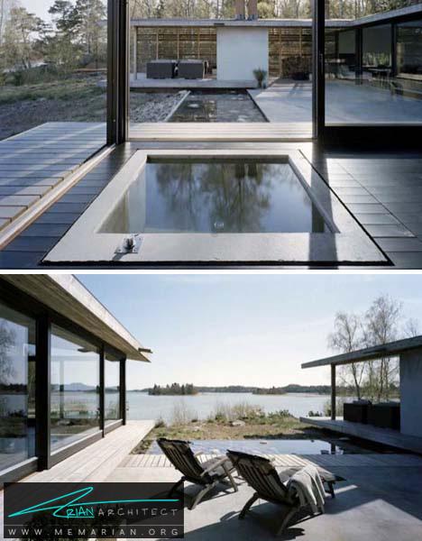 خانه ای با تمام عناصر در کنار دریاچه - خانه های ساحلی
