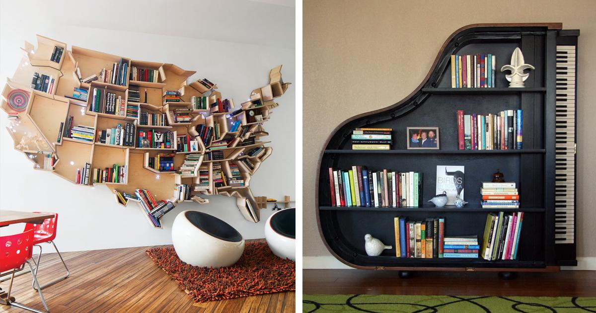 13 ایده خلاقانه برای طراحی کتابخانه