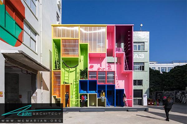 آپارتمان های کوچک و برنامه ریزی شده -معماری متراکم