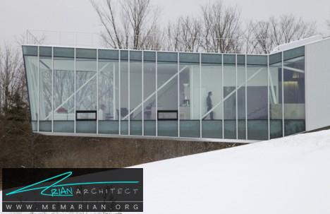 معماری شیشه ای خانه ای در بوستون - معماری شیشه ای