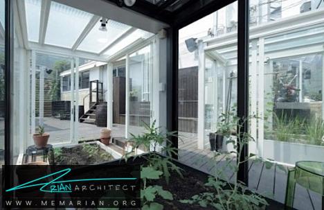 سازه گلخانه ای شیشه ای -معماری شیشه ای