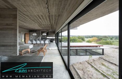 خانه دو طبقه شیشه ای -معماری شیشه ای