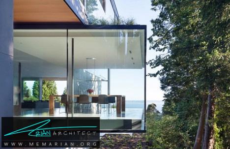 خانه مدرن و جذاب شیشه ای- معماری شیشه ای