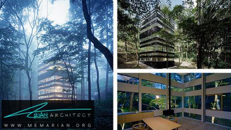 خانه شیشه ای در جنگل-خانه شیشه ای