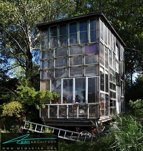 معماری شیشه ای قدیمی-خانه شیشه ای