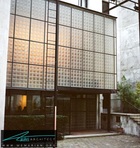خانه شیشه ای مشهور فرانسه -خانه شیشه ای