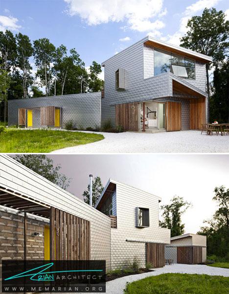 خانه ای از جنس آلومینیوم مات -خانه فلزی