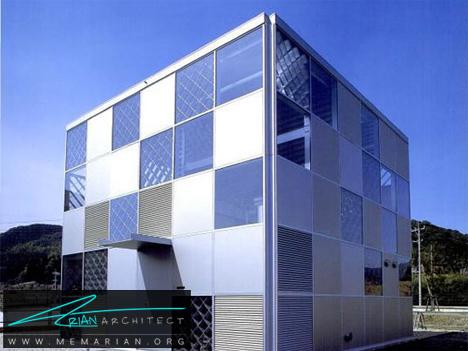 مکعب فلزی شیشه ای -خانه فلزی