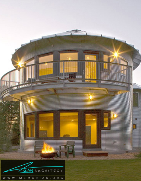 سیلوی بازسازی شده -خانه فلزی