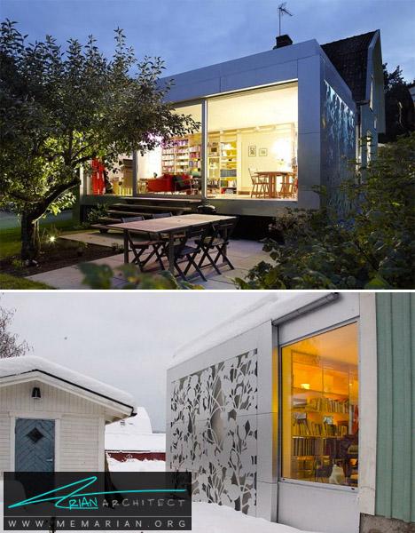 خانه طرح و نقش دار آلومینیومی -خانه فلزی