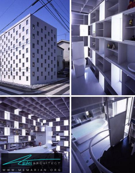 خانه فلزی الهام گرفته از طرح سیمان آجری -خانه فلزی