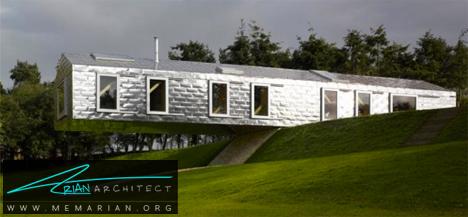 خانه فلزی در محیط طبیعی -خانه فلزی