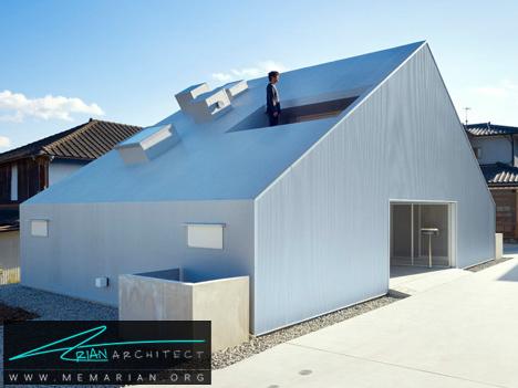 خانه ابری در ژاپن -خانه فلزی