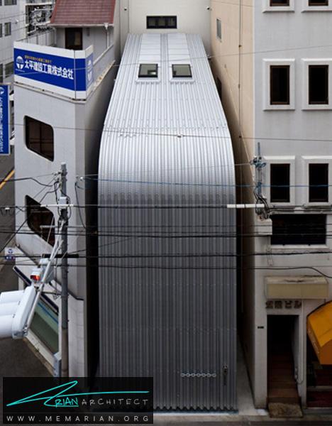 خانه چمدانی در ژاپن -خانه فلزی