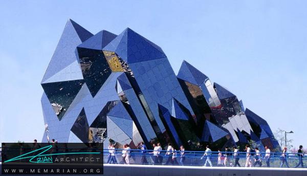 ساختمان شیشه ای ستاره شکل-سازه های تخیلی