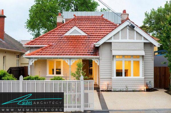 خانه چوبی خاص در ملبورن استرالیا - بازسازی مدرن