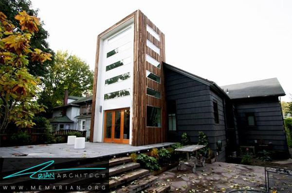 بازسازی خانه در کنار برج چوبی - بازسازی مدرن