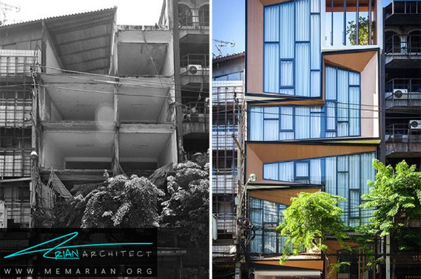 تبدیل ساختمان تجاری قدیمی به خانه ای مدرن - بازسازی مدرن