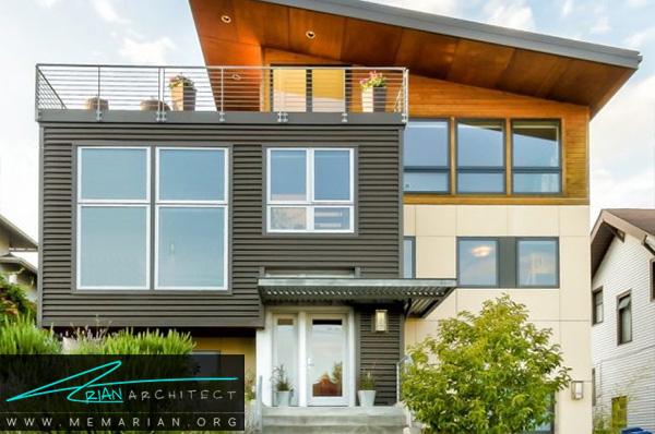 بازسازی خانه با اضافه کردن تراس و طبقه - بازسازی مدرن