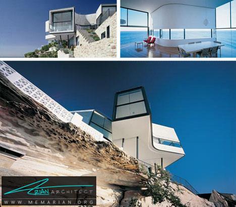 خانه صخره ای مدرن -خانه کوهستانی