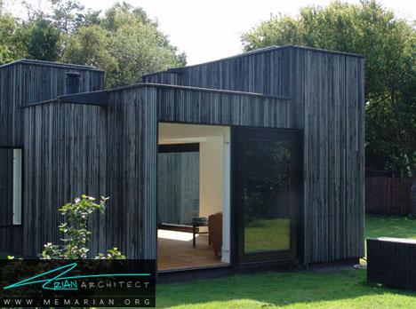 تضاد رنگ ها در معماری خانه با فضای باز - معماری خانه با فضای باز